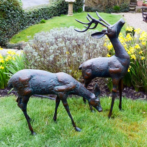 XST-331 Small Deer - dark verdigris