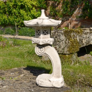 PAGODA Tall Antique Stone Effect