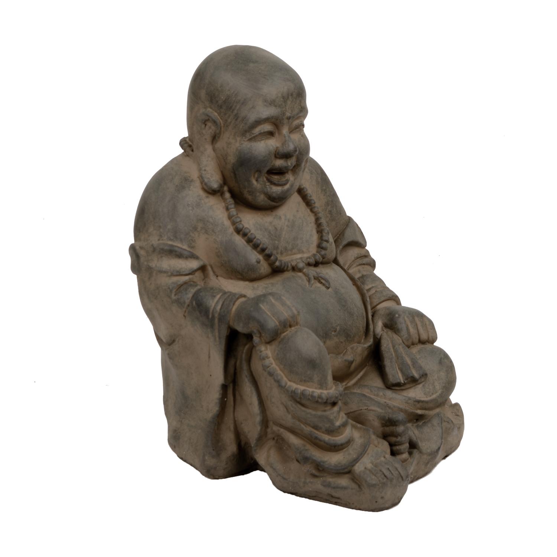 Buddhist Monk Statue Rust Effect
