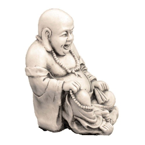 Buddhist Monk - antique stone effect