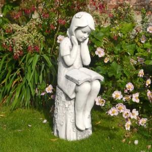 Julie 86cm white stone effect