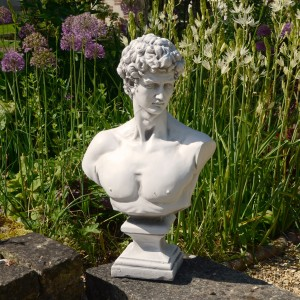 David Bust - white stone effect