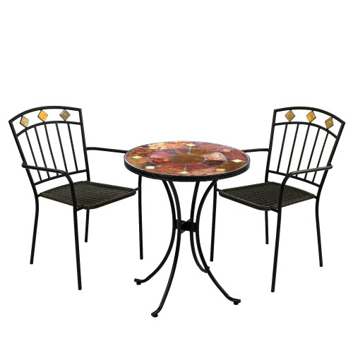Ondara 60cm Bistro Table with Malaga Chairs