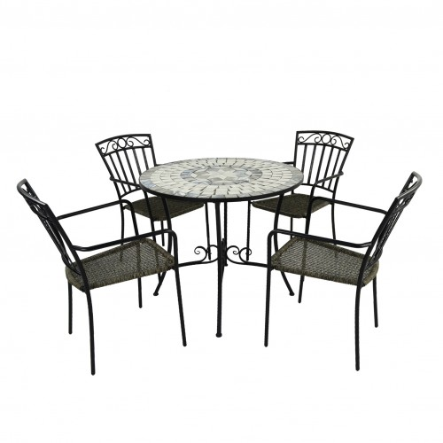 Verde Patio table with Modena chairs