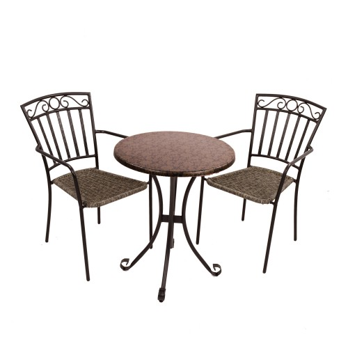 Fleuretta Bistro table with Modena chairs