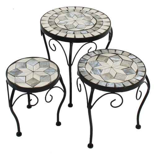 Verde set of 3 low plant stands