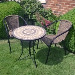 Brava ceramic tile table with San Remo chairs