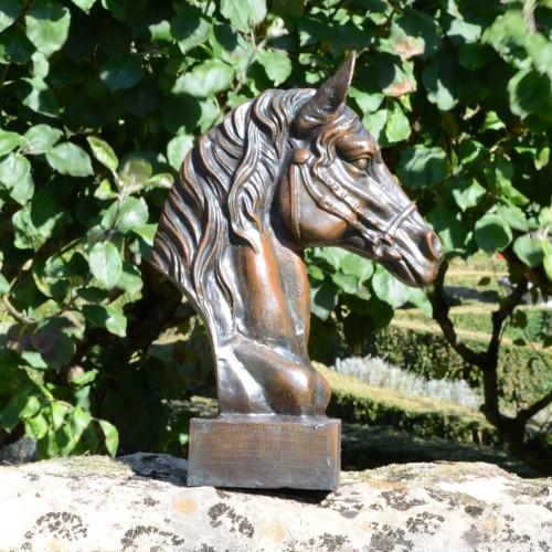 HORSE HEAD Aluminium Dark Verdigris
