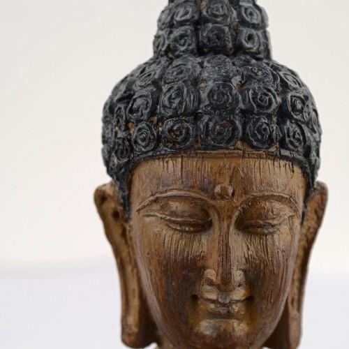 Buddha Sitting Carved Wood Effect