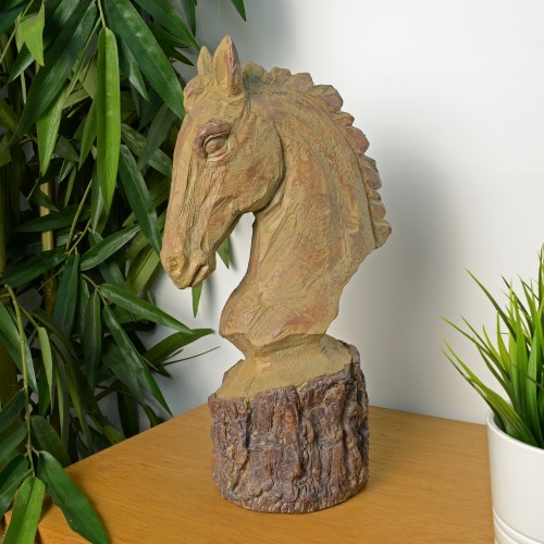 Horse Head Carved Wood Effect