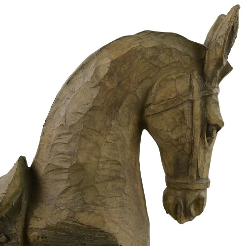 Horse Carved Wood Effect