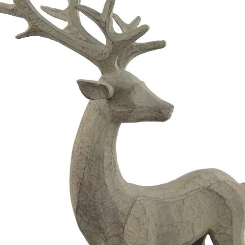 Deer Carved Wood Effect