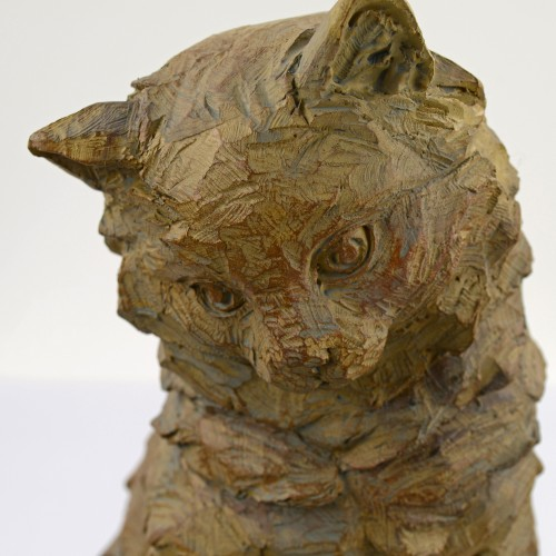 Our Cat Carved Wood Effect