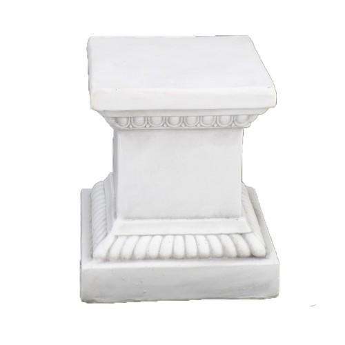 PLINTH Square Low White Stone Effect
