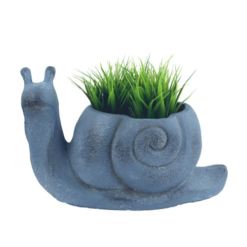 Snail Planter Blue Iron Effect