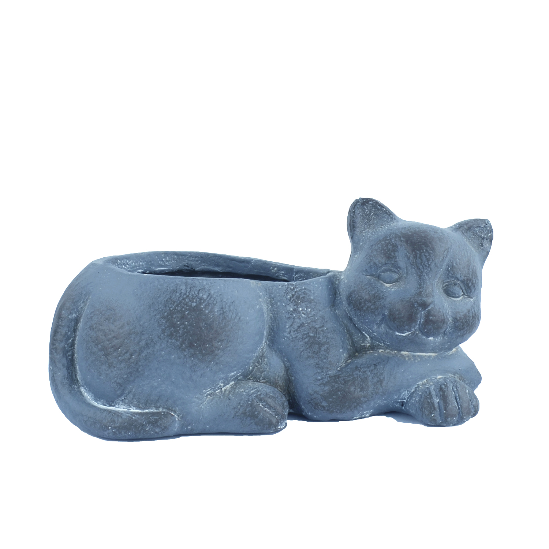 Cat Planter Blue Iron Effect