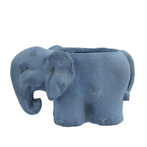 Elephant Planter Blue Iron Effect