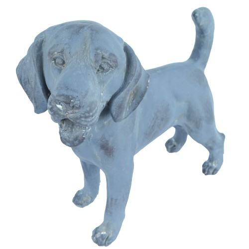 Puppy Standing Blue Iron Effect