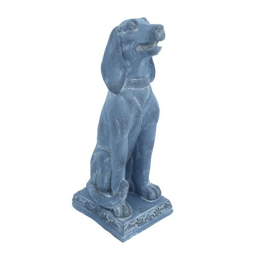 Dog Sitting Blue Iron Effect