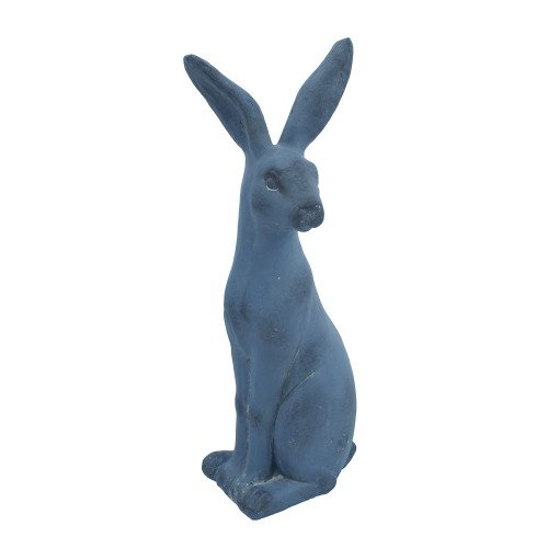 Hare Sitting Blue Iron Effect