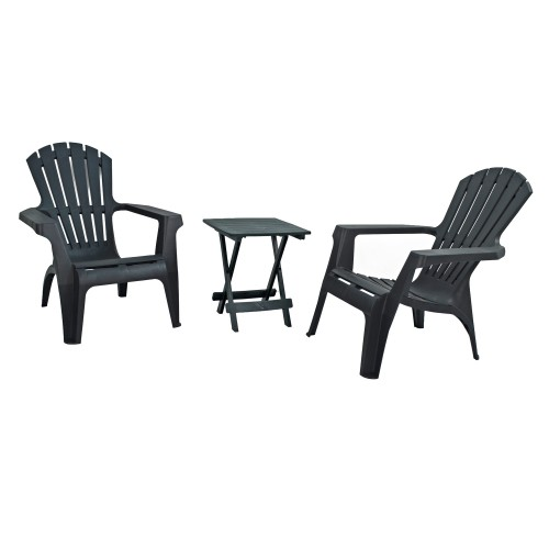 Andria Chairs with Bari side table - Anthracite