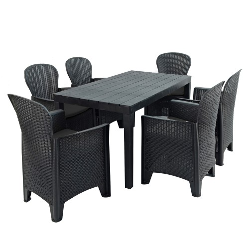 Roma table with Sicily chairs