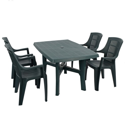 Taranto table with Palma chairs in anthracite