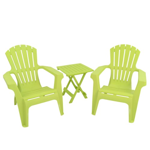 Andria Chairs with Bari side table - Lime