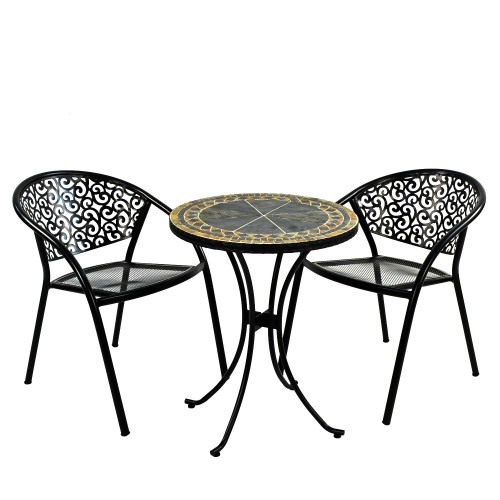 Clermont 60cm Bistro Table with Florence Chairs