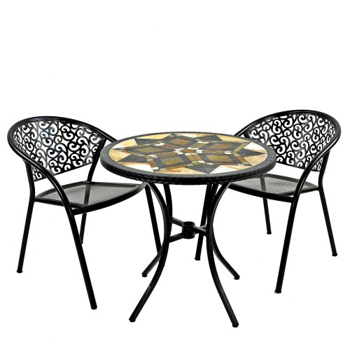 Darwin 76cm Bistro Table with Florence Chairs