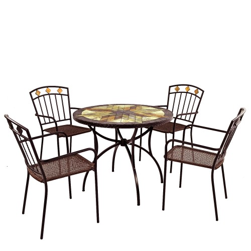 Montilla 91cm Patio table with Malaga chairs