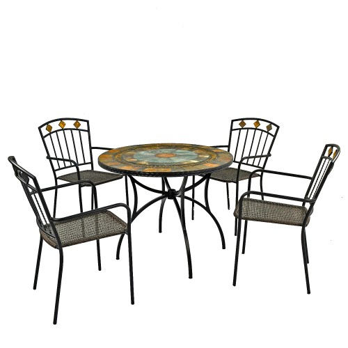 Villena 91cm Patio Table With Malaga Chairs