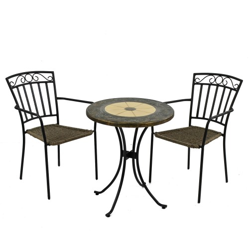 Rennes 60cm Bistro Table with Malaga Chairs